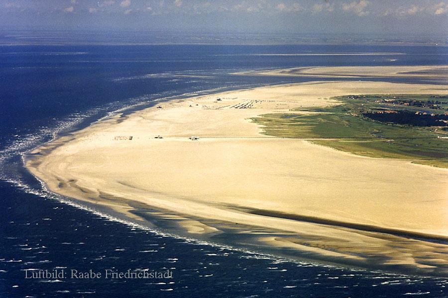 Der weiße Sandstrand von St. Peter-Ording Nordsee