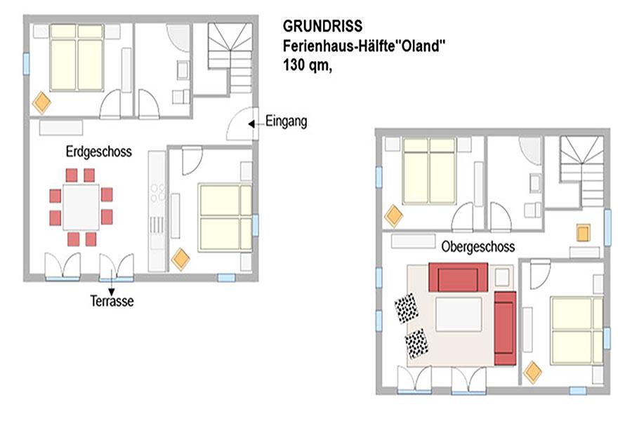 Grundriss Haus Oland Tholenhof St. Peter-Ording
