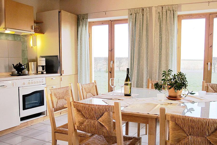 Eßraum und Küche Haus Oland Tholenhof St. Peter-Ording Nordsee