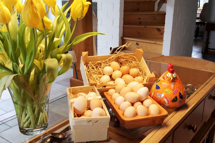 Die Eier von unseren glücklichen Hühnern!