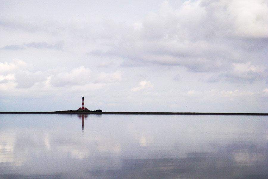 Mit dem Rad um die Tümlauer Bucht zum Leuchtturm radeln